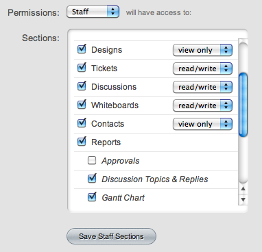 User permissions